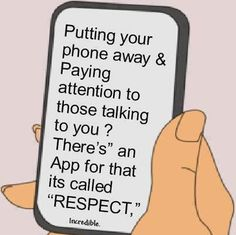cell phone-respect