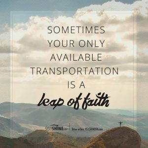 leap of faith, indiana Jones, 95.1ShineFM