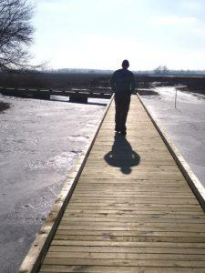 men on dock