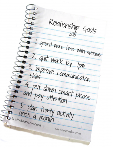 relationship goals notebook